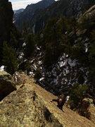 Rock Climbing Photo: Vanya on the first slab.