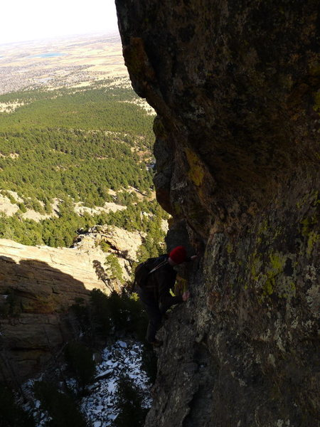 Another exposed traverse.