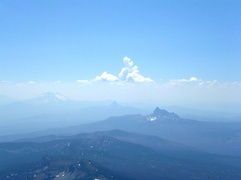 Rock Climbing Photo: Three sisters taken from Mt. Jefferson. Summer 200...