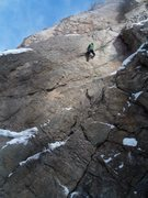 Rock Climbing Photo: M6 in School Room - Ouray, CO
