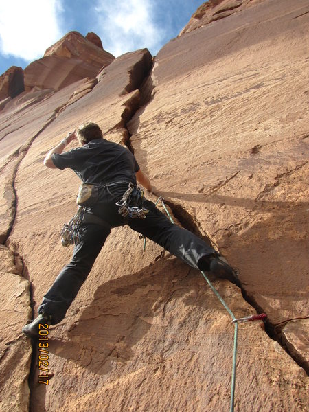 Rock Climbing Photo: Heading into the unknown.