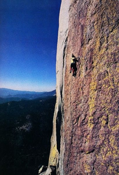 Tony Yaniro on Scirocco (5.12a), The Needles<br> <br> Photo by Frank Forencich