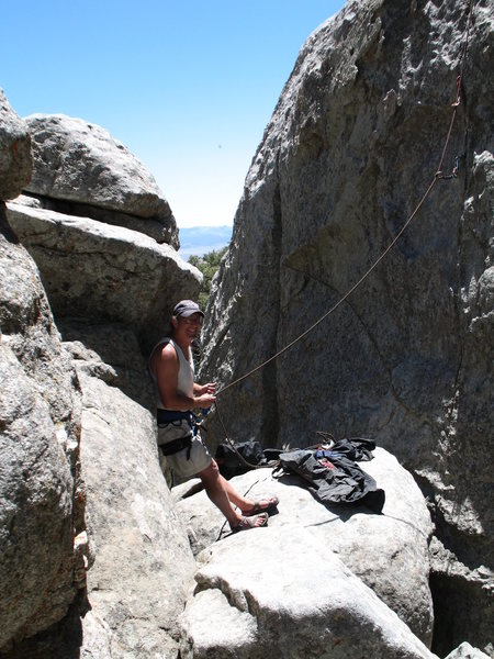 Rock Climbing Photo: belay slaving on some route I forgot the name of w...