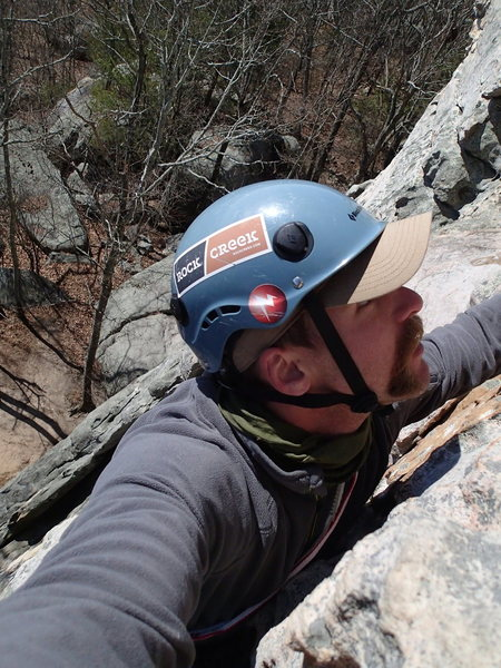 Climbing up Knob Wall