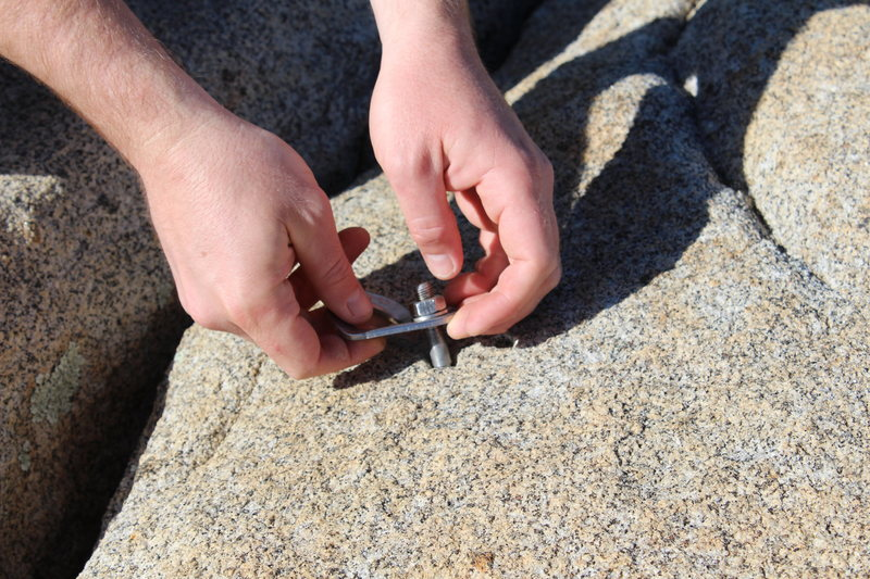 Rock Climbing Photo: all 3 bolts are like this one. learn how to bolt b...