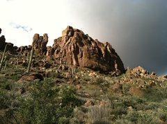 Rock Climbing Photo: Bark's Canyon Wall just after a morning storm.