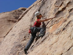 """Rock Climbing Photo: Working the bottom portion of """"George's Route..."""