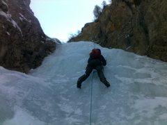 Rock Climbing Photo: Marius seconding on the first cascade.