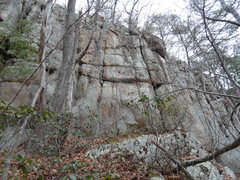 Rock Climbing Photo: Hand Crack at right end of ledge