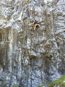 Rock Climbing Photo: Big Will warming up on Destructomatic .11b, Wrecka...