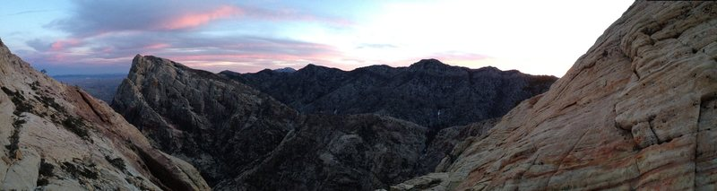 Rock Climbing Photo: Sunset on top of Eagle Wall