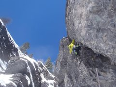 Rock Climbing Photo: Erik on P1 of Weak and the Weary.