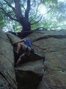 Rock Climbing Photo: Triangles - 5.9