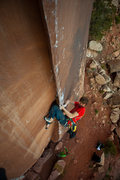 Rock Climbing Photo: Will Stanhope on the FA  Andrew Burr Photo