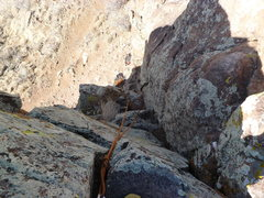 Rock Climbing Photo: Looking down from the top.