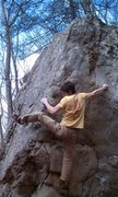 Rock Climbing Photo: Nick Brehm a few moved form the end.