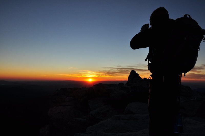 Rock Climbing Photo: A beautiful sunset from the top of Tahquitz