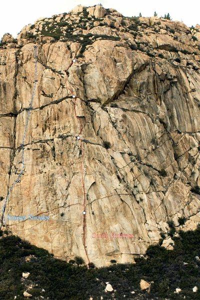 Rock Climbing Photo: Sunset Streaks 5.10a