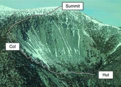 Rock Climbing Photo: Upper South Ridge of Mount Baldy.