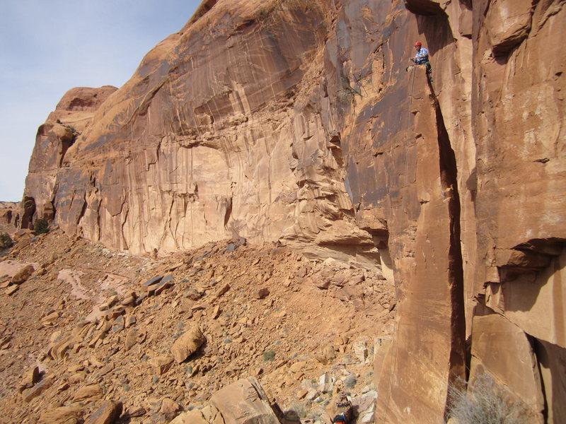 Rock Climbing Photo: taylor on top