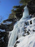 Rock Climbing Photo: Jonathan Baldassare on the FA of Polar Circus. A s...