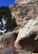 Rock Climbing Photo: B. Scott on one of the first lead ascents of this ...