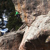 B. Scott on one of the first lead ascents of this awesome line.
