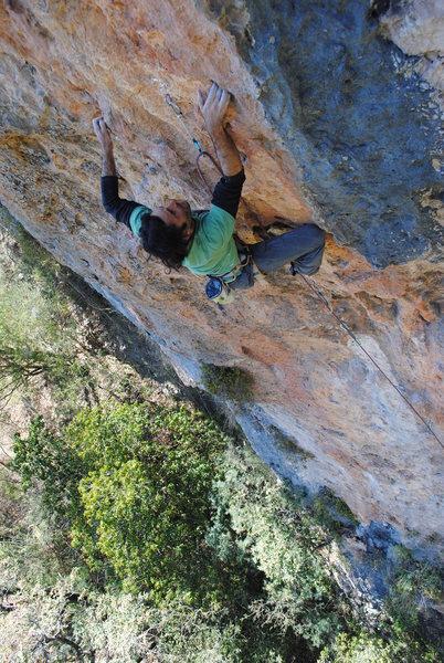 Rock Climbing Photo: Rodrigo near the crux