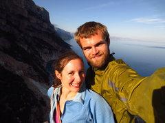 Rock Climbing Photo: On top of the Aguglia de Golorize, Sardegna, Italy