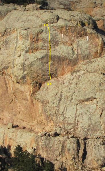 Rock Climbing Photo: Intestinal Fortitude, 11b.