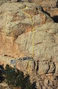 Rock Climbing Photo: Right of Passage, 5.9.