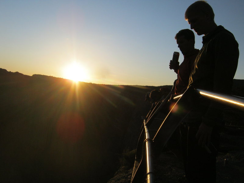 Rock Climbing Photo: a good place to be, overlooking the Black Canyon.