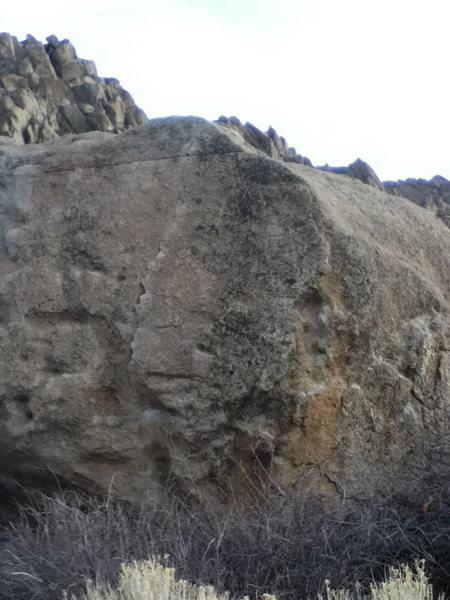 Rock Climbing Photo: Crack left of center.