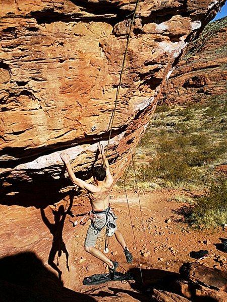 Rock Climbing Photo: Campus starting rail