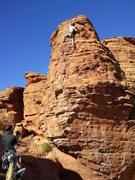 Rock Climbing Photo: near top