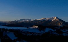 Rock Climbing Photo: Sunrise over Tenmile range, Quandary on far left.