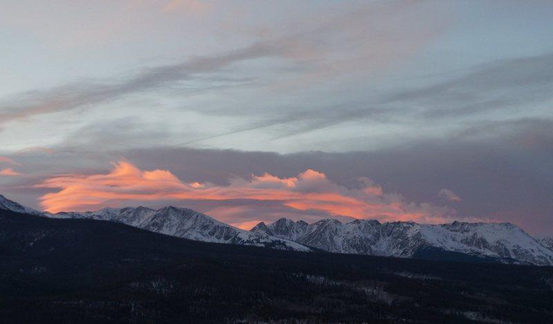 Sunset, Gore Range, Nov. 14.