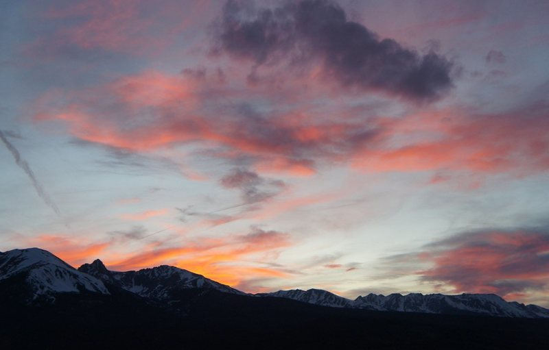 Rock Climbing Photo: Sunset, Gore Range, April.