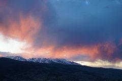 Rock Climbing Photo: Sunset, Gore Range, April 23.