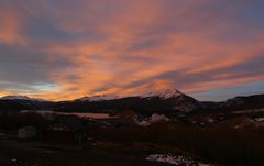 Rock Climbing Photo: Sunset, with Quandary at left end of the  Tenmile ...