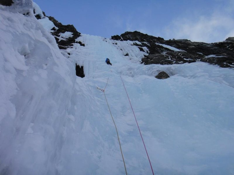 Pitch 3, still 100m to the top.