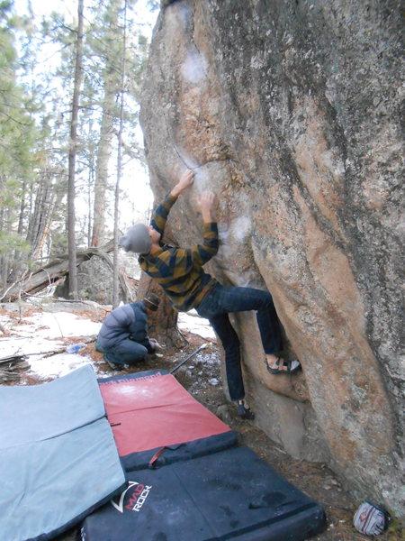 Rock Climbing Photo: tall guy way, pic 2