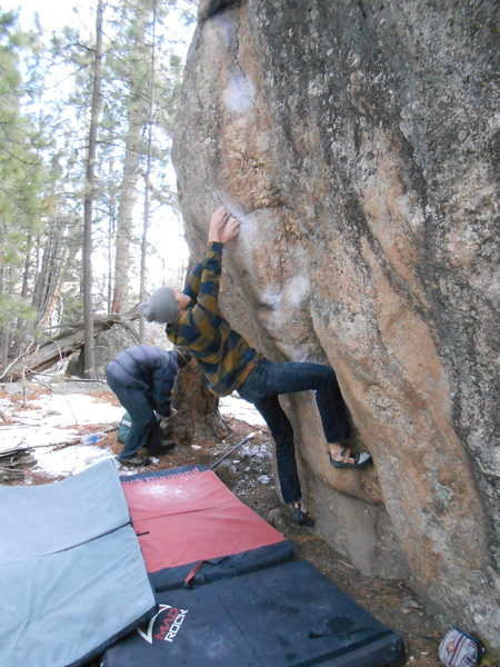 Rock Climbing Photo: Eric onsighting old rough dawg
