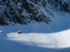 Rock Climbing Photo: Skiers got their fix too.