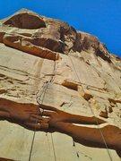 Rock Climbing Photo: FA'ing.