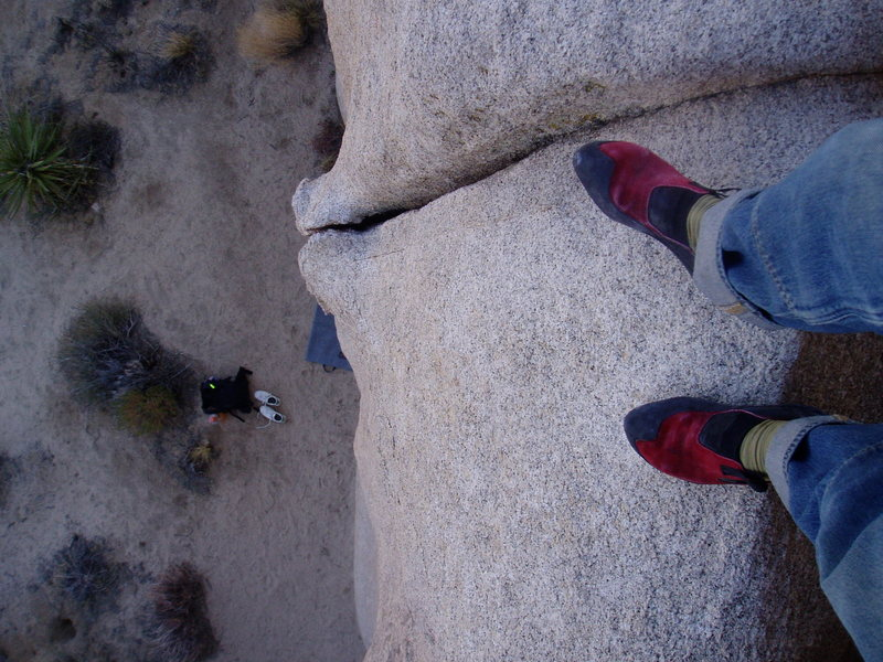 Rock Climbing Photo: What a lovely highball crack. It's easy enough up ...