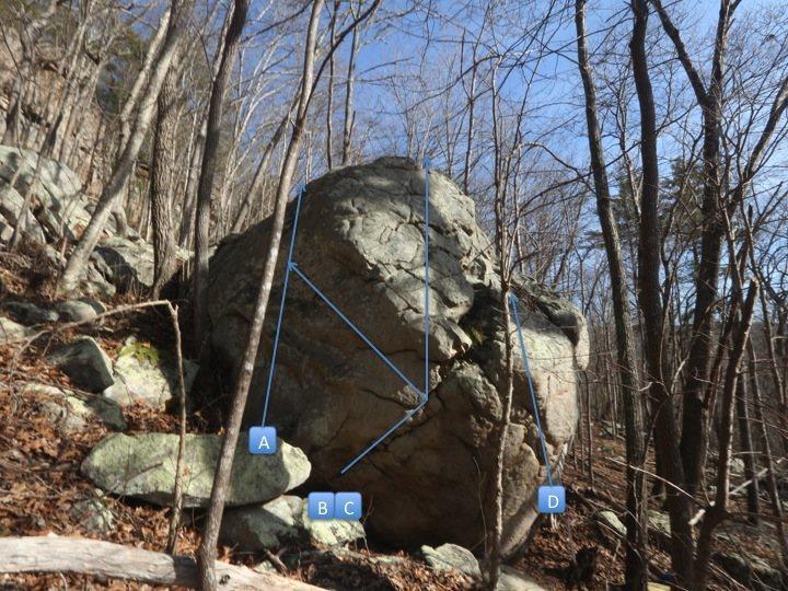 Rock Climbing Photo: Left side probs