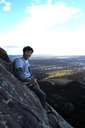 Rock Climbing Photo: Peak of our first free solo! GOODTIMES.