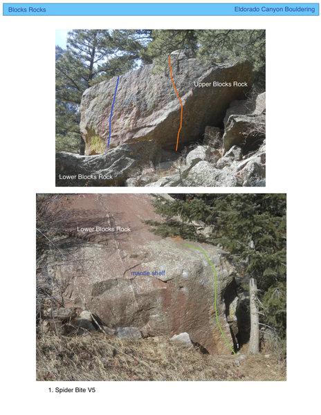 Rock Climbing Photo: Blocks Rocks topo.