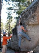 Rock Climbing Photo: Bouldering in Boulder Basin CG, Black Mountain